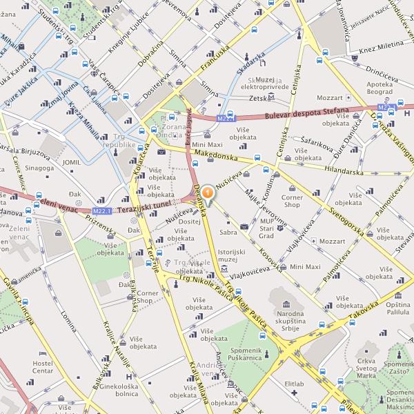 mapa beograda decanska ulica SZR Student mapa beograda decanska ulica